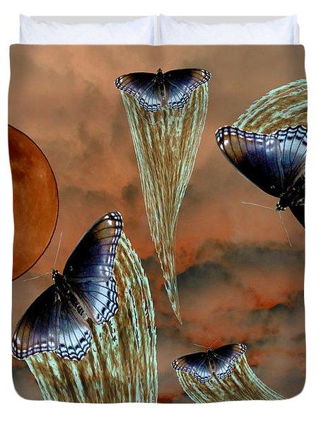 Celestial Butterflies Duvet Cover