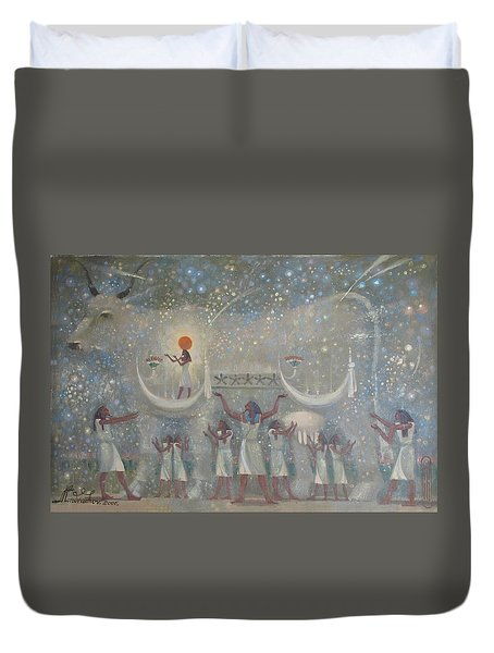 Celestial Cow Duvet Cover