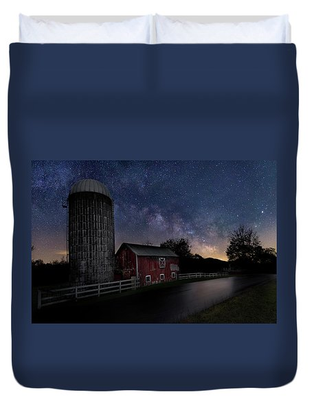 Duvet Cover featuring the photograph Celestial Farm by Bill Wakeley
