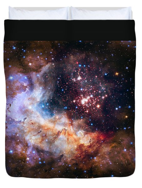 Celebrating Hubble's 25th Anniversary Duvet Cover