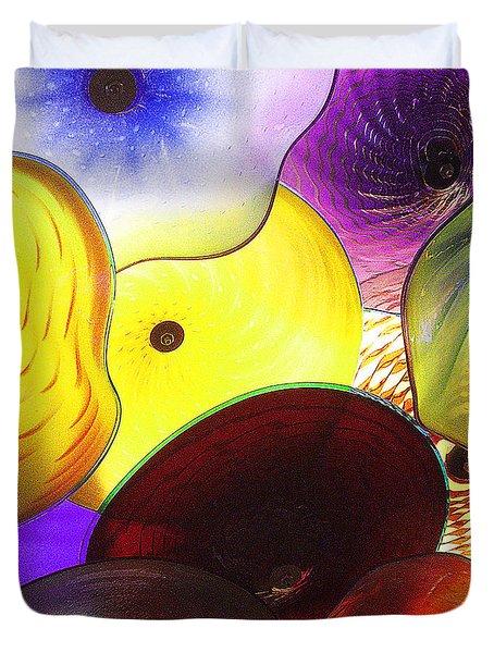 Celestial Glass 1 Duvet Cover by Xueling Zou