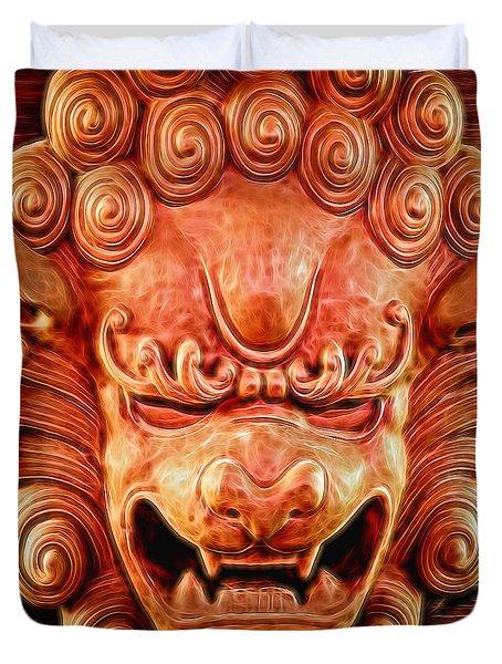 Celestial Guardian Duvet Cover