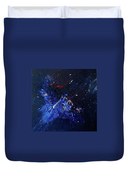 Duvet Cover featuring the painting Celestial Harmony by Michael Lucarelli