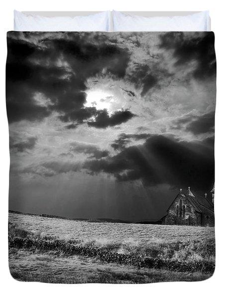 Celestial Lighting Duvet Cover by Meirion Matthias