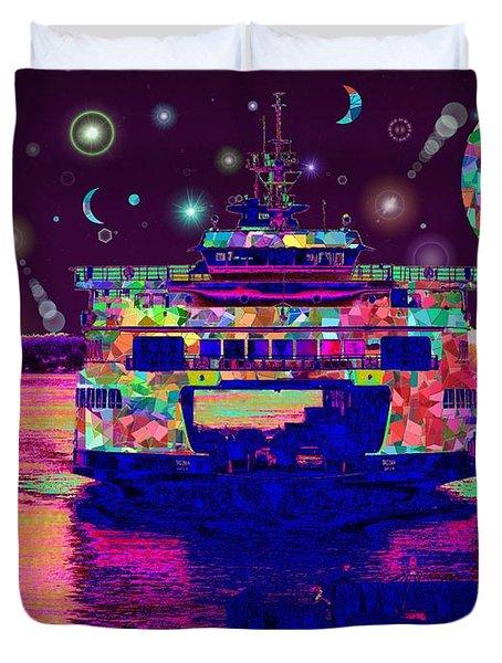 Celestial Sailing Duvet Cover by Tim Allen