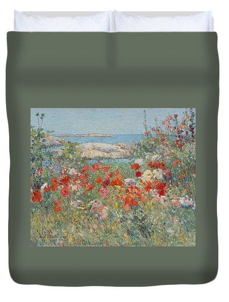 Celia Thaxter's Garden, Isles Of Shoals, Maine Duvet Cover