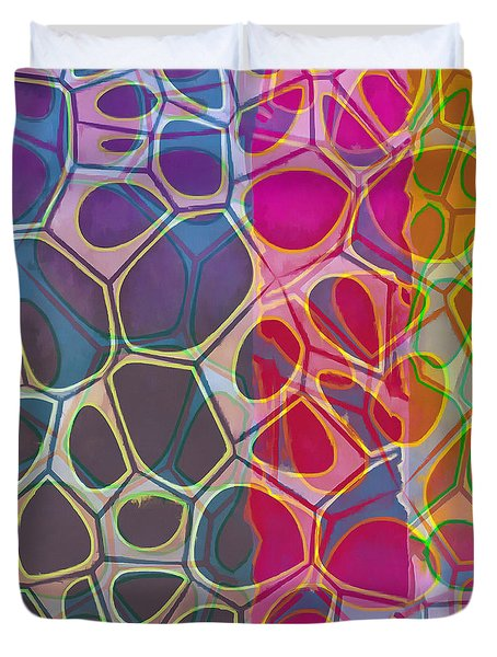 Cell Abstract 11 Duvet Cover