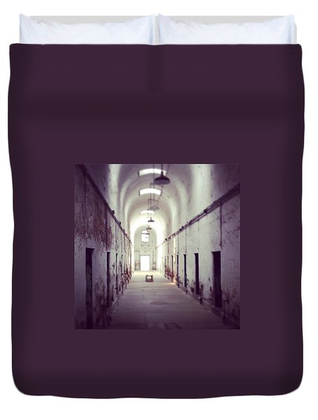 Cell Block Eastern State Penitentiary Duvet Cover by Sharon Halteman