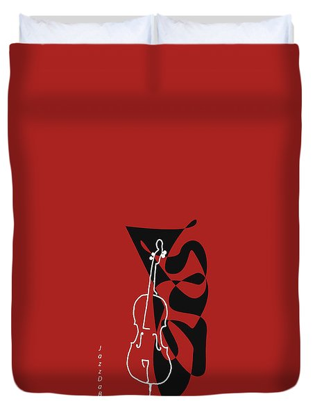 Cello In Orange Red Duvet Cover