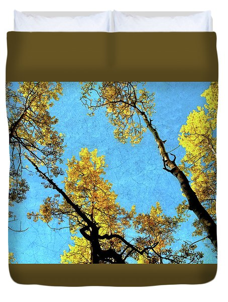 Duvet Cover featuring the photograph Cellophane Flowers Of Yellow And Green by Jim Hill