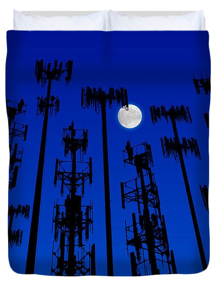 Cellphone Tower Forrest Duvet Cover