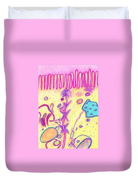 Cellular Environment Duvet Cover