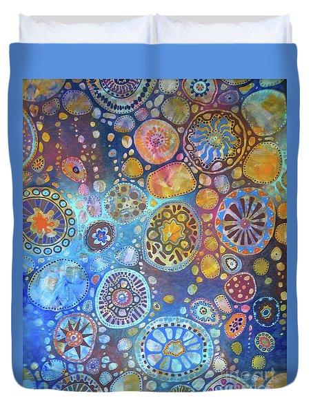 Cellular Fantasy I Duvet Cover by Anne Havard
