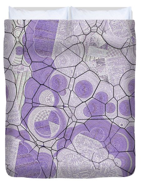Duvet Cover featuring the digital art Cellules - 03c2 by Variance Collections