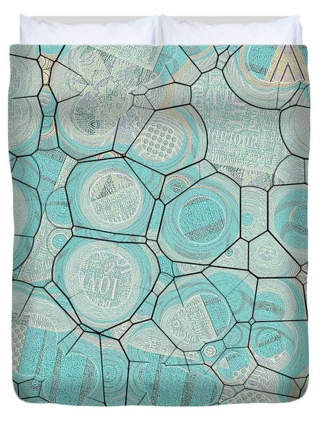 Duvet Cover featuring the digital art Cellules - 04c1 by Variance Collections