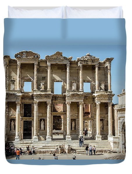 Celsus Library Duvet Cover by Kathy McClure