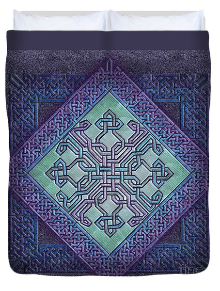 Duvet Cover featuring the mixed media Celtic Avant Garde by Kristen Fox