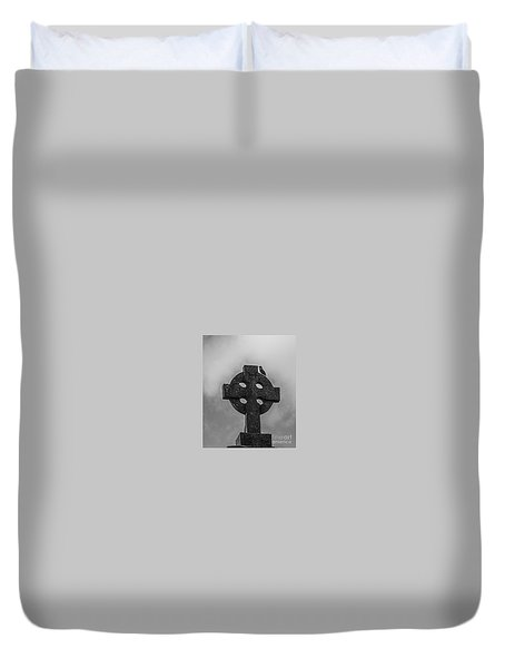Celtic Cross #2 - Scotland Duvet Cover by Amy Fearn
