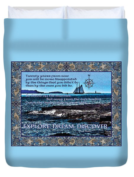 Celtic Explorer - Bluenose II In Halifax Harbour Duvet Cover