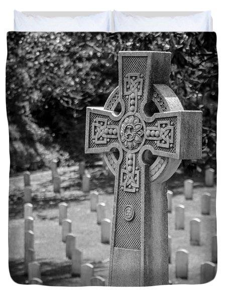 Celtic Grave Duvet Cover