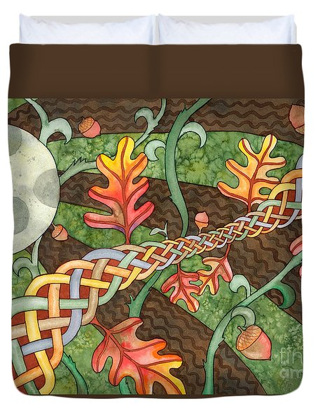 Celtic Harvest Moon Duvet Cover
