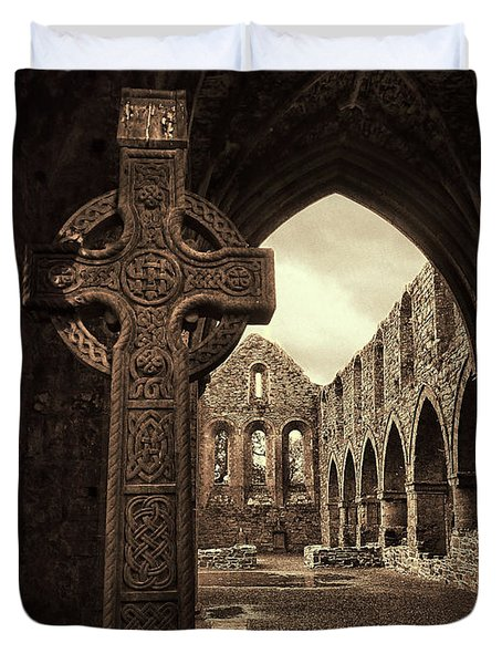 Celtic High Cross Jerpoint Abbey Ireland Duvet Cover