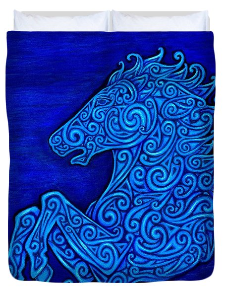 Celtic Horse Duvet Cover by Rebecca Wang
