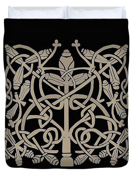 Celtic Leaves Knots One Duvet Cover