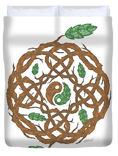 Celtic Nature Yin Yang Duvet Cover