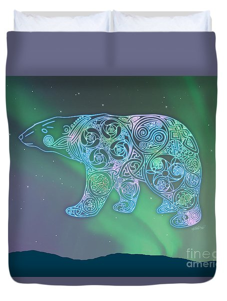 Duvet Cover featuring the photograph Celtic Polar Bear by Kristen Fox