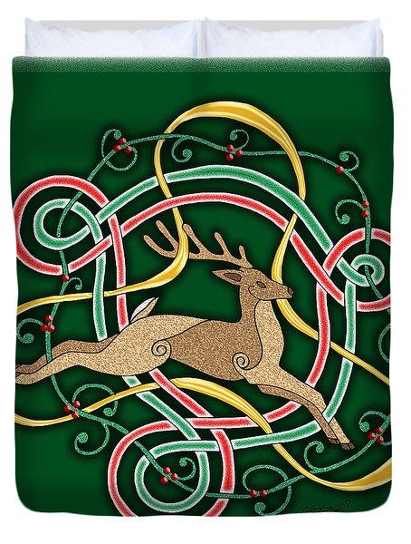 Celtic Reindeer Knots Duvet Cover