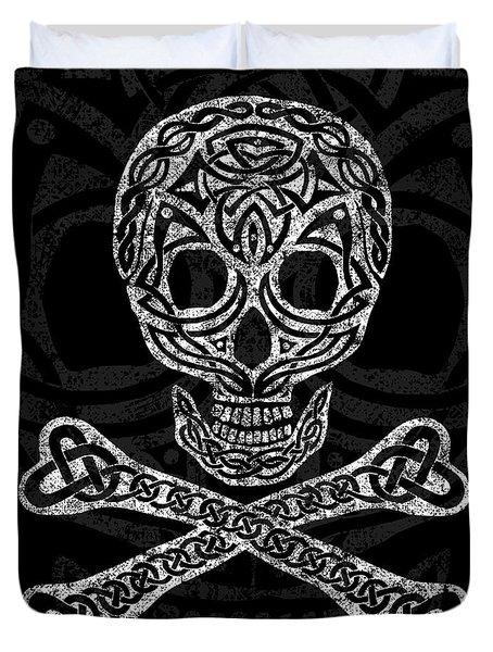 Celtic Skull And Crossbones Duvet Cover