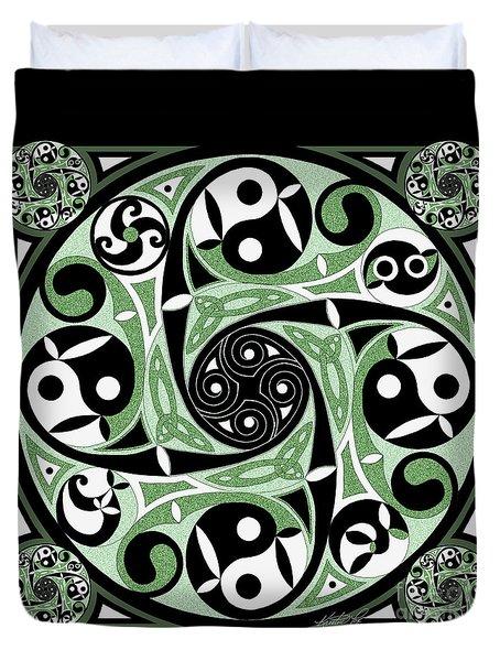 Celtic Spiral Stepping Stone Duvet Cover