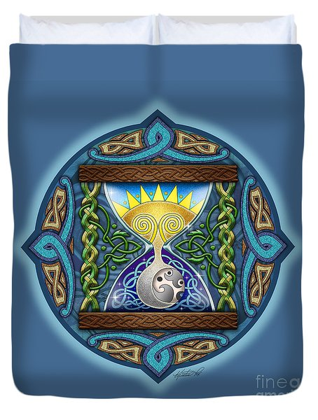 Celtic Sun Moon Hourglass Duvet Cover