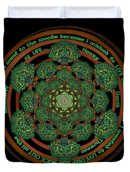 Celtic Tree Of Life Mandala Duvet Cover