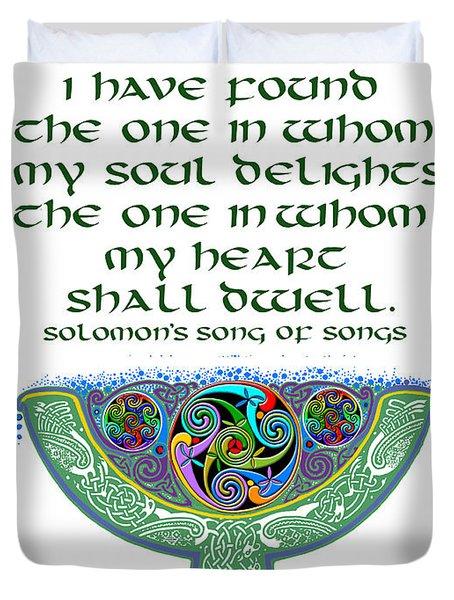 Celtic Wedding Goblet Duvet Cover