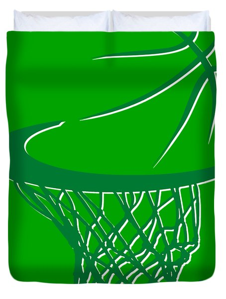 Celtics Basketball Hoop Duvet Cover