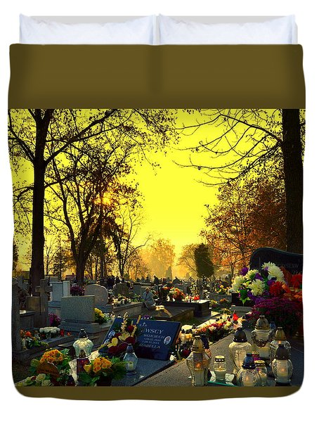 Cemetery In Feast Of The Dead Duvet Cover