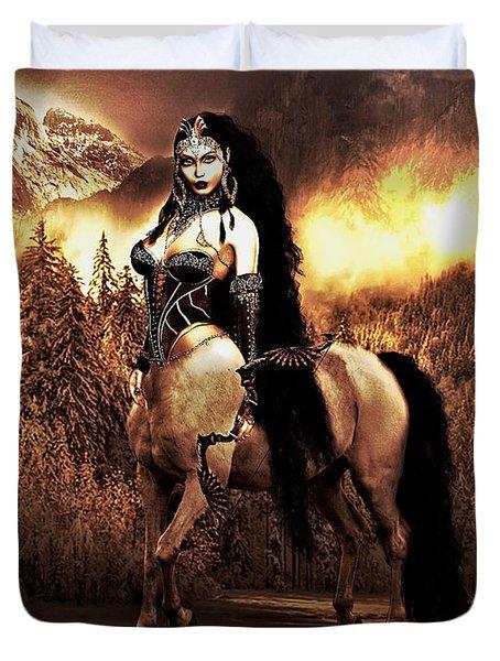 Centaur Warrior Duvet Cover