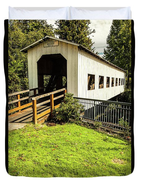 Duvet Cover featuring the photograph Centennial Bridge by Jim Adams