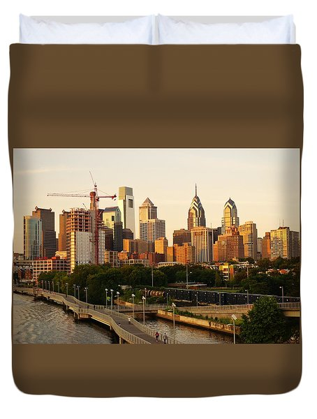 Duvet Cover featuring the photograph Center City Philadelphia by Ed Sweeney