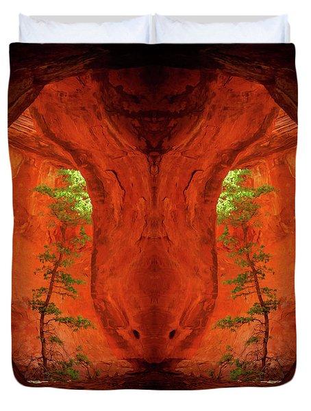 Center Column Duvet Cover by Scott McAllister