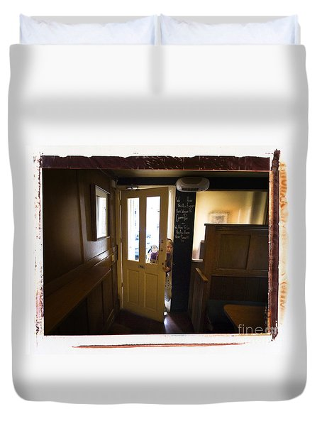 Duvet Cover featuring the photograph Center Page Girl by Craig J Satterlee