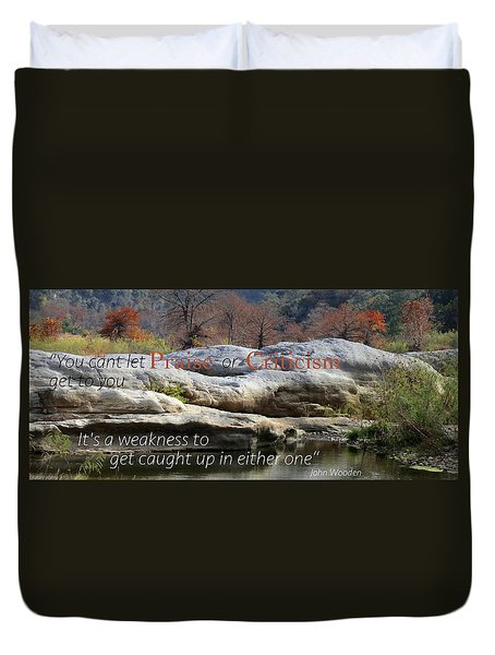 Duvet Cover featuring the photograph Centered In Humility by David Norman