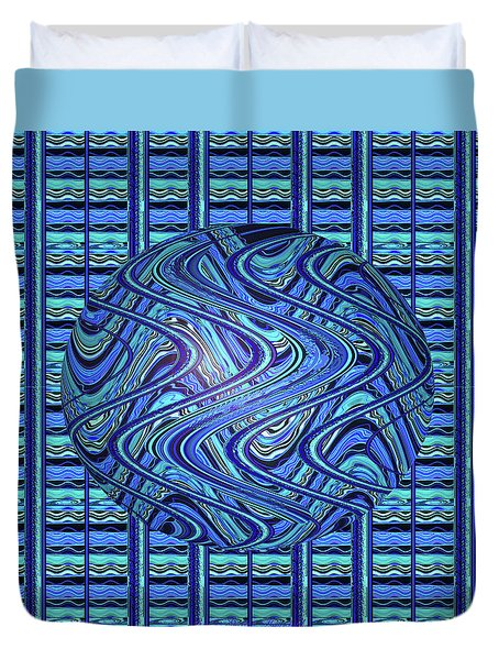 Duvet Cover featuring the digital art Centered - Original Design For Home And Office by Brooks Garten Hauschild