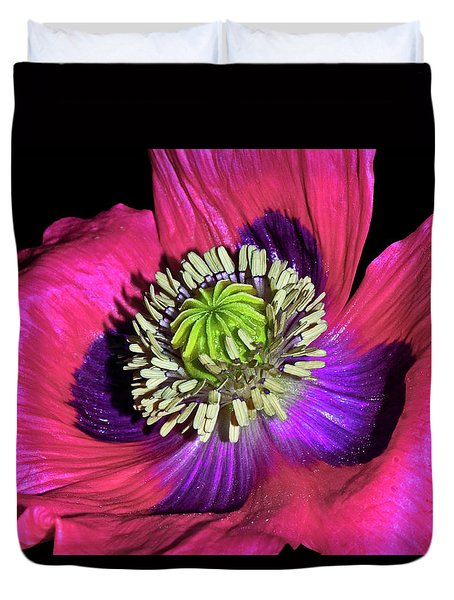 Centerpiece - Poppy 020 Duvet Cover by George Bostian