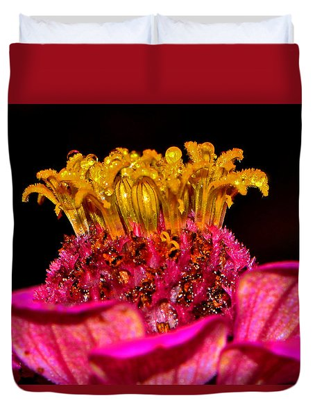 Centerpiece - Zinnia Crown 001 Duvet Cover by George Bostian