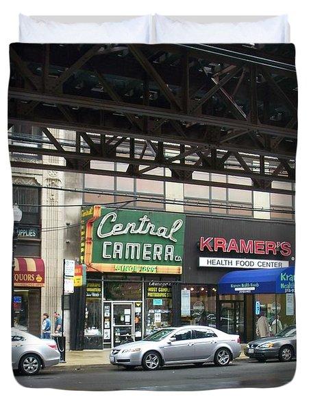 Central Camera On Wabash Ave  Duvet Cover