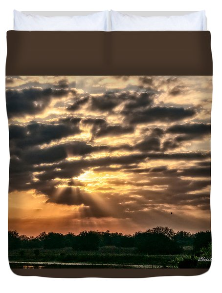 Duvet Cover featuring the photograph Central Florida Sunrise by Christopher Holmes