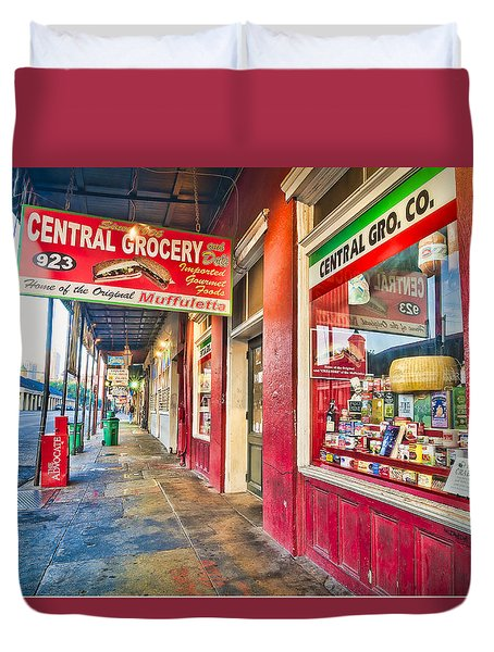 Central Grocery And Deli In The French Quarter Duvet Cover